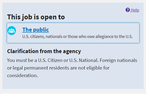 USAJOBS open to the public