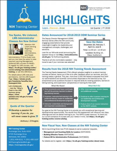 Highlights newsletter image