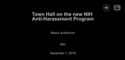 Town Hall on the new NIH Anti-Harassment Program